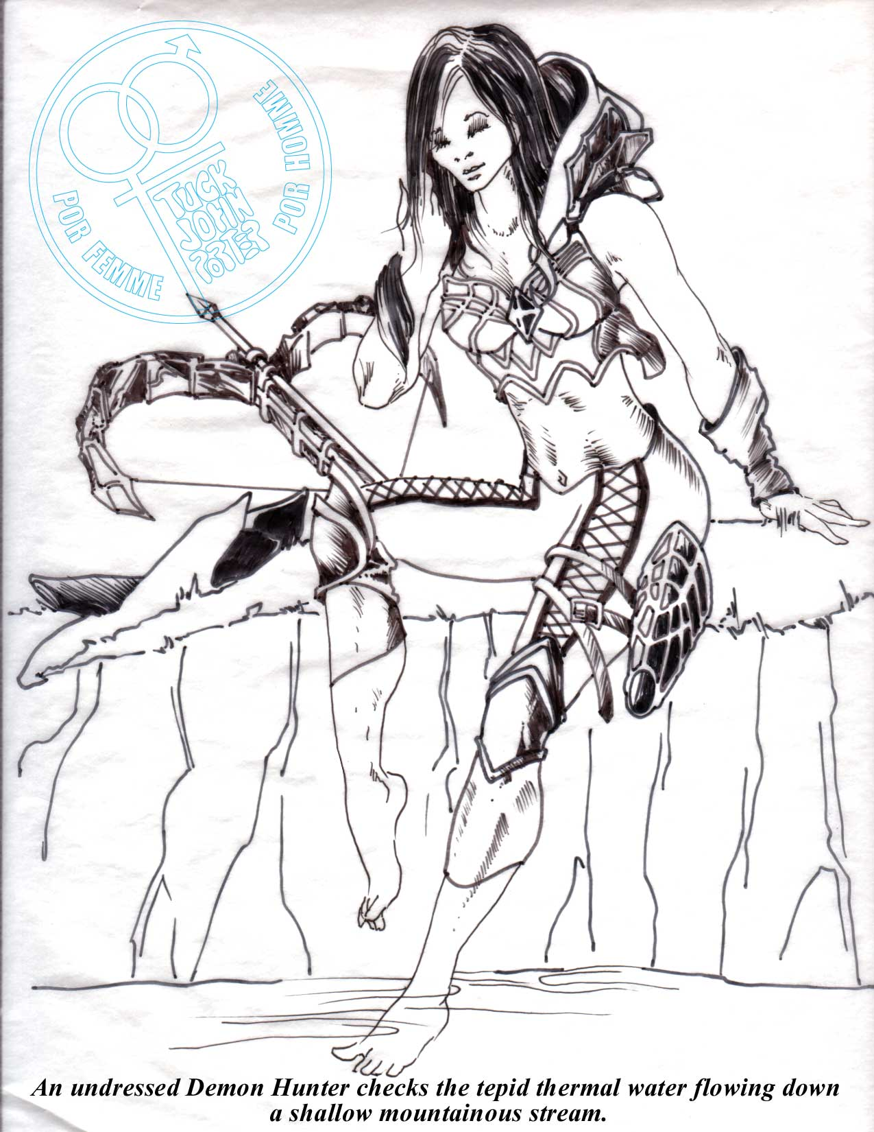 Demon Hunter Sensual Art by Designer TJP